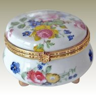 Porcelain Trinket Box with Roses