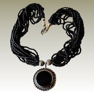 Ethnic Style Necklace Multi Strand Stone Pendant