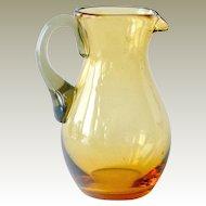 Amber Glass Pitcher Creamer
