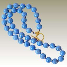 Necklace Lapis Lazuli Beads Hand Knotted