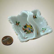 Miniature Basket Porcelain Occupied Japan
