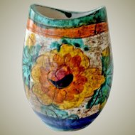 Art Pottery Vase Hand Painted