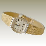 Vintage Rolex Watch 14K with Diamonds