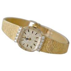 Vintage Rolex Watch 14K with Diamonds
