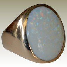 Massive Opal Ring 14K 13.7 Grams