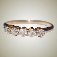 Ring Diamond Band .50 Carat 14k Gold