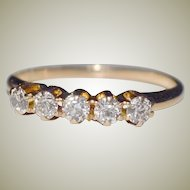 Ring Diamond Band .50 Carat 14k Gold