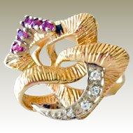 Ruby Diamond Ring 14k 9 Plus Grams