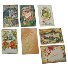 Postcards Seven Happy New Year - Red Tag Sale Item