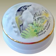 Limoges Porcelain Trinket Dresser Box with Bird