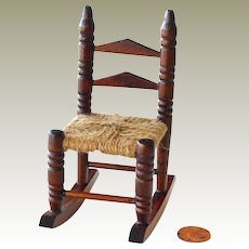 Dollhouse Rocking Chair Woven Seat