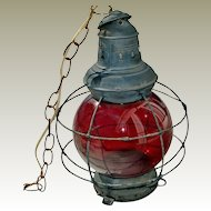 Old Lantern As Found 15 Inches Electrified