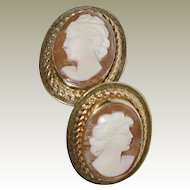 Cameo Earrings Van Dell 12K Gold Fill