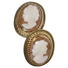 Cameo Earrings Van Dell 12K Gold Fill