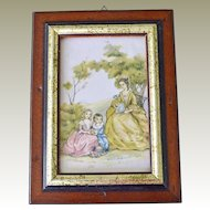 Silk Print Mother and Children Italy
