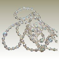 Necklace  AB Crystal 52 Inches Long