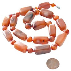 Necklace Carnelian Agate Jumbo Beads