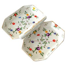 Candy or Serving Dish Hand Painted Chintz Style TT Japan