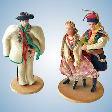Vintage Folk Dolls Handmade in Poland Spoldzielnia