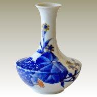 Vase Hand Painted Porcelain Oriental Style Design