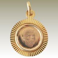 Pendant 18K Gold John F. Kennedy Commemorative Medal
