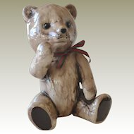 Ceramic Teddy Bear Figurine 7 Inches Tall