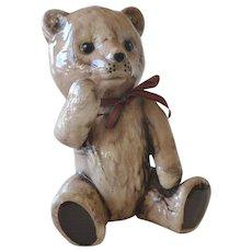 Ceramic Teddy Bear Figurine 7 Inches Tall