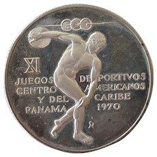 Panama Silver Commemorative Coin 1970 5 Balboa