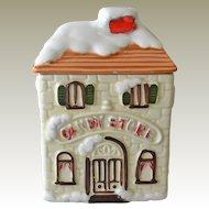 Ceramic House Candy Store Jar Japan
