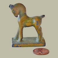 Miniature Chinese Style Horse Figurine