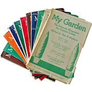 Rare English Magazines My Garden 1951 12 Issues