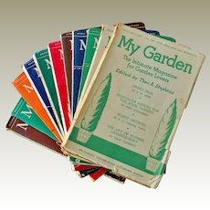 Rare English Magazines My Garden 1951 12 Issues