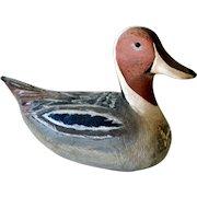 Carved Wood Duck Decoy Signed Yertes 1974 Seaford Delaware