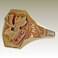 Ring Loyal Order of Moose LOOM 10k Gold