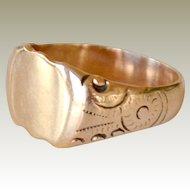 Signet Ring 14k yellow Gold Ready for Monogram 6 Grams