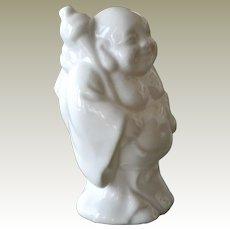 Buddha Hotei  White Porcelain Figurine
