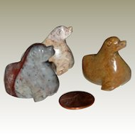 Three Carved Stone Miniature Seals