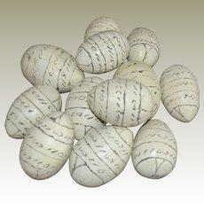 Dozen Eggs Handmade Etched