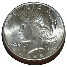 Peace Silver Dollar 1922P