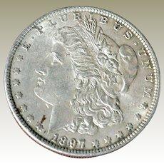 Morgan Silver Dollar 1897P