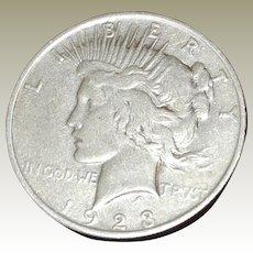 Peace Silver Dollar 1923-P