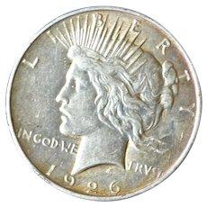 Silver Peace Dollar 1926D