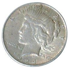 Peace Silver Dollar 1924P