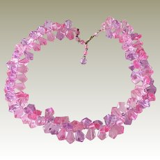 Bold Bright Pink Plastic Necklace Hong Kong