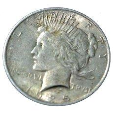 Peace Silver Dollar 1925-P