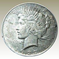 Peace Silver Dollar 1927-P