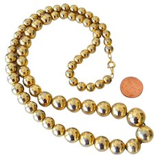 Vintage Necklace Beads on Chain Korea