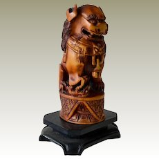 Chinese Stone Foo Dog Lion Figurine