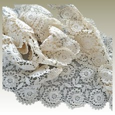 Silky Cream Lace Trim Four Inches Wide