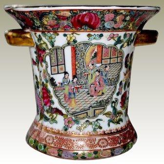 Chinese Vase Rose Medallion Mandarin